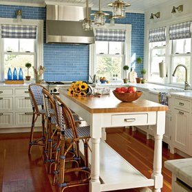 kitchen with a nautical flair