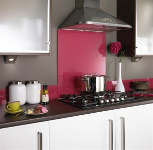 Bold colors can offset stainless...and creates interest with a neutral kitchen