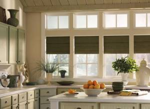 A sophisticated kitchen with Benjamin Moore paint colors