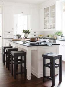 Painted white cabinets never go out of style!