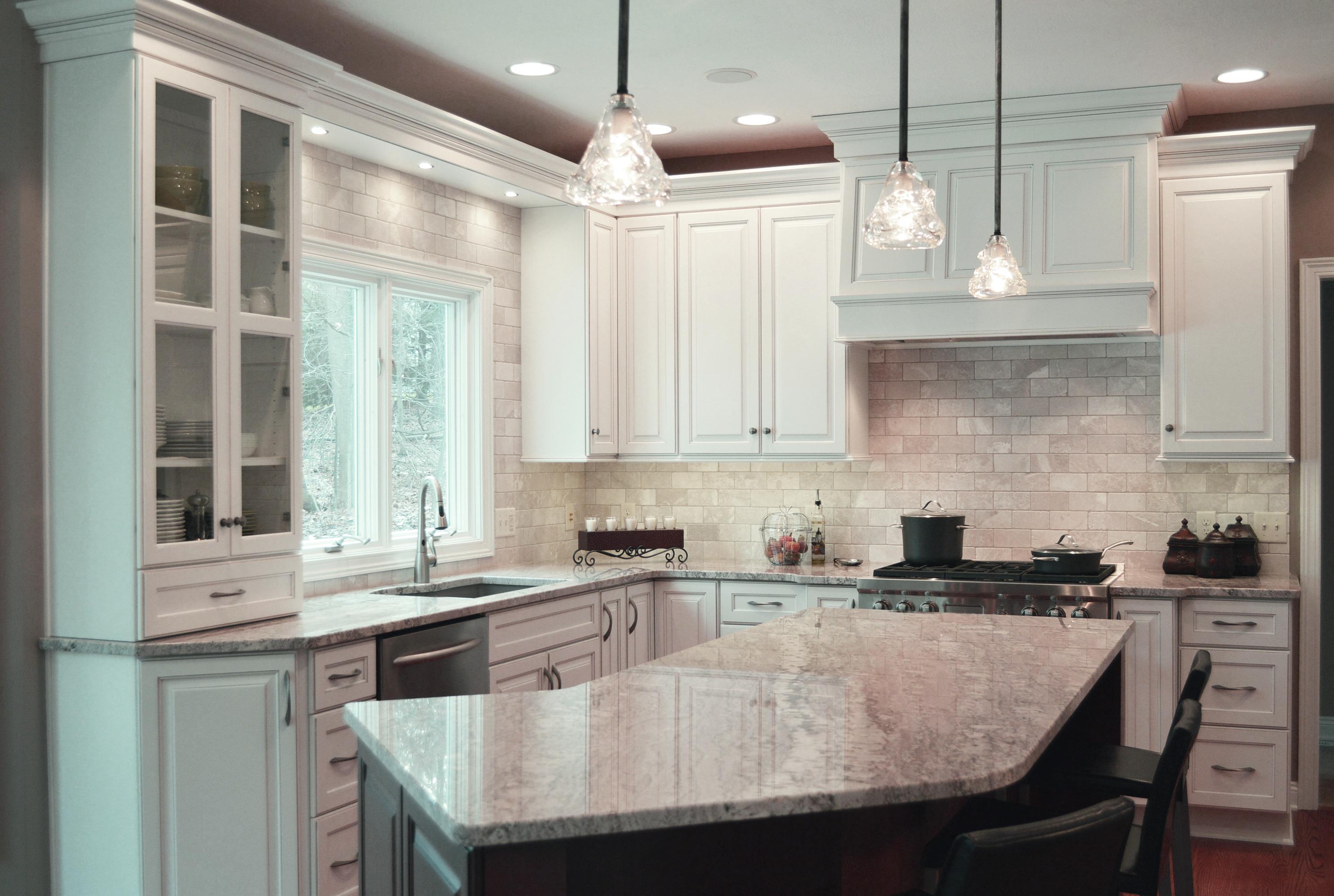 White thermofoil kitchen cabinets