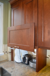 A great storage option when you order new cabinets!