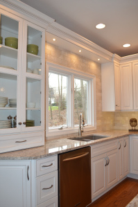 "Lighting that is ""layered"" for tasks in the kitchen www.studio76kitchens.com"